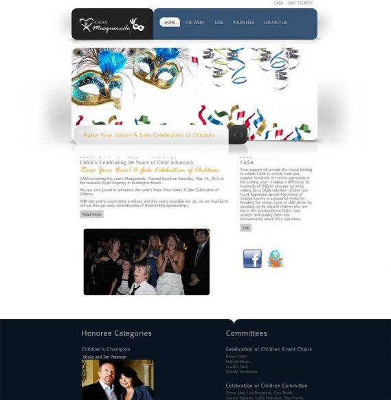 CASA Celebration of Children Non-Profit Web Candy Web Design