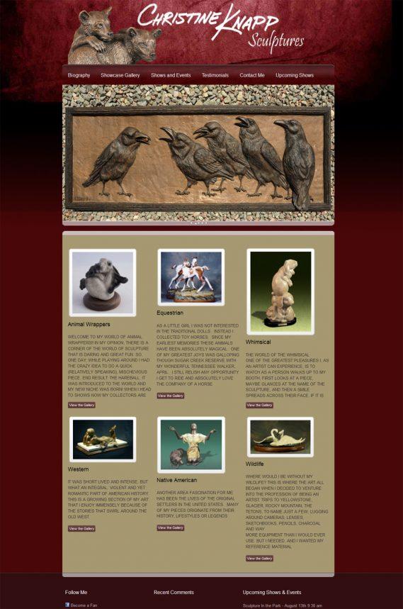 Chrisitne Knapp Sculpture Bronze Sculpture Web Candy Web Design