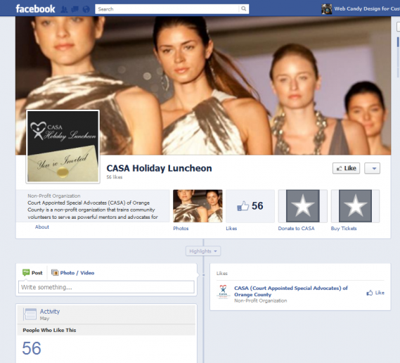 CASA Facebook timeline