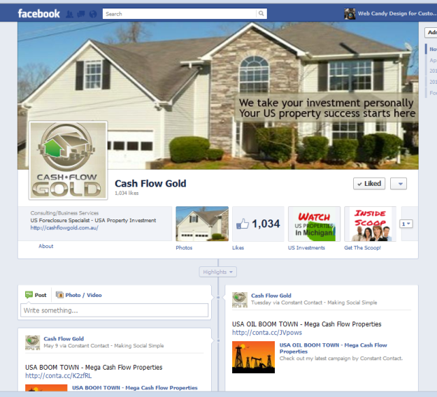 Cash Flow Gold Facebook Timeline
