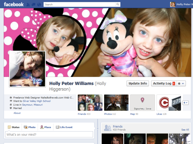 Minnie Mouse Custom Facebook timeline