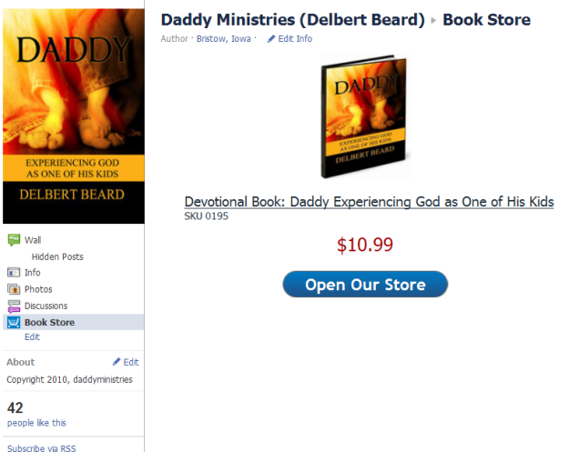Facebook Store Daddy's Ministry