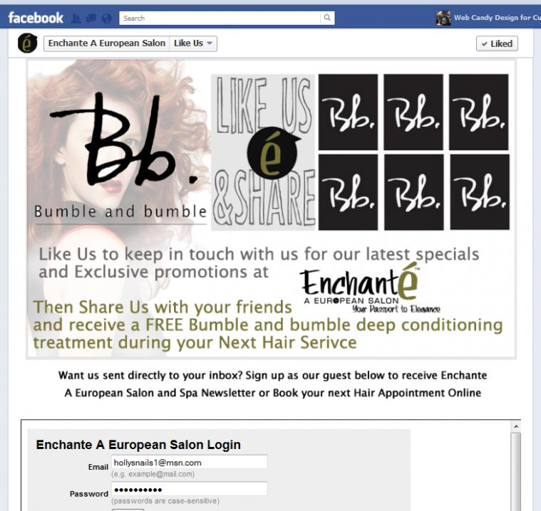 Enchante Salon Facebook Page