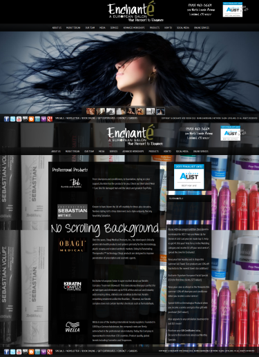 Enchante Salon and Spa by Web Candy Web Design