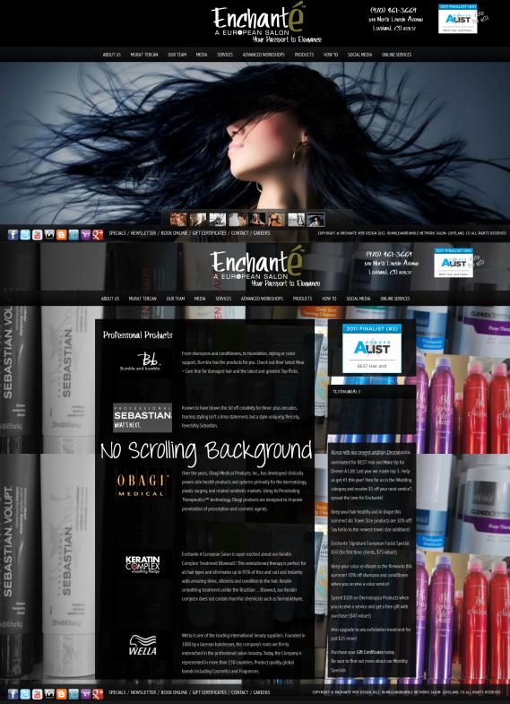 Enchante Salon and Spa by Web Candy Web Design