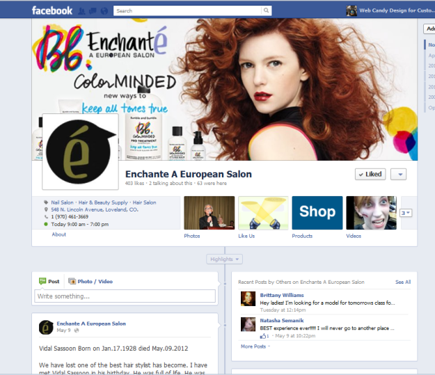 Enchante Salon Timeline Facebook