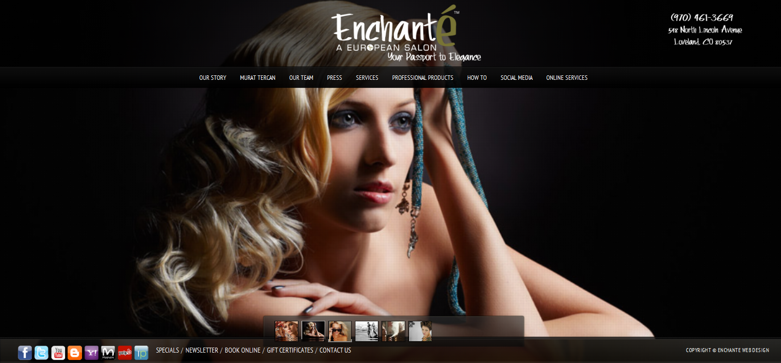 Enchante A European Salon and Spa Loveland Colorado beauty salon top salon