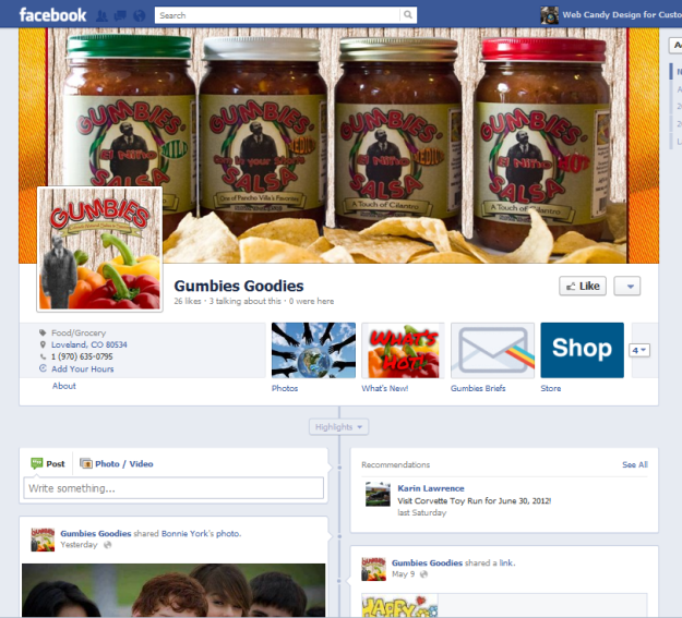 Facebook Page Gumbies Goodies