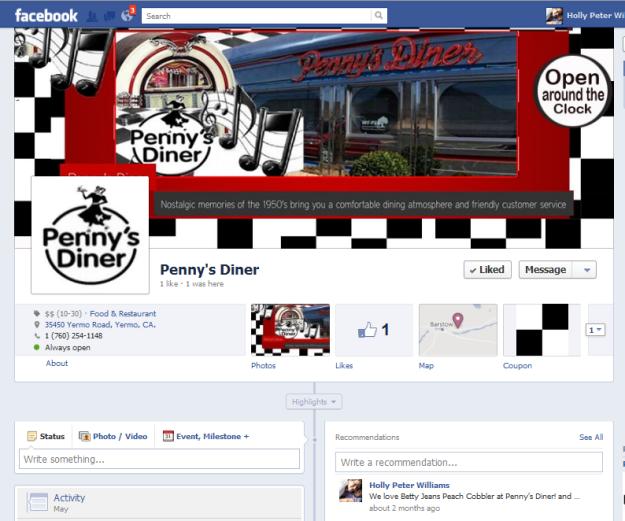 Facebook Timeline Gallery Pennys Diner