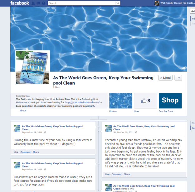 Facebook Page Pool as the World Goes Green Keep Your Swimming Pool Clean