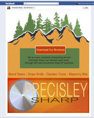 Precisely Sharp Tab Facebook Page