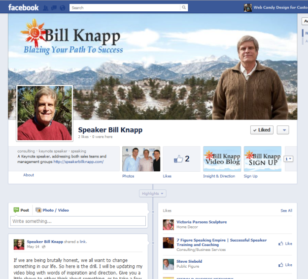 Speaker Bill Knapp Facebook Pages Custom profile