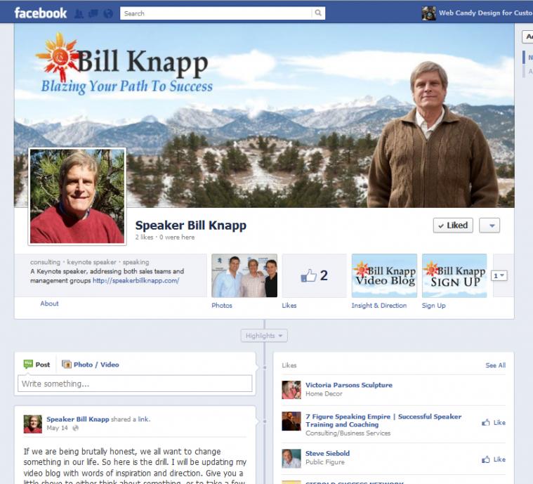 Speaker Bill Knapp Facebook Pages Custom profile