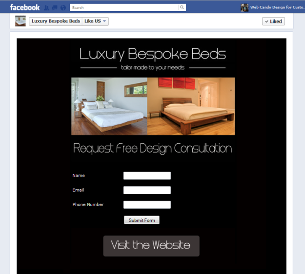Luxury bespoke Facebook