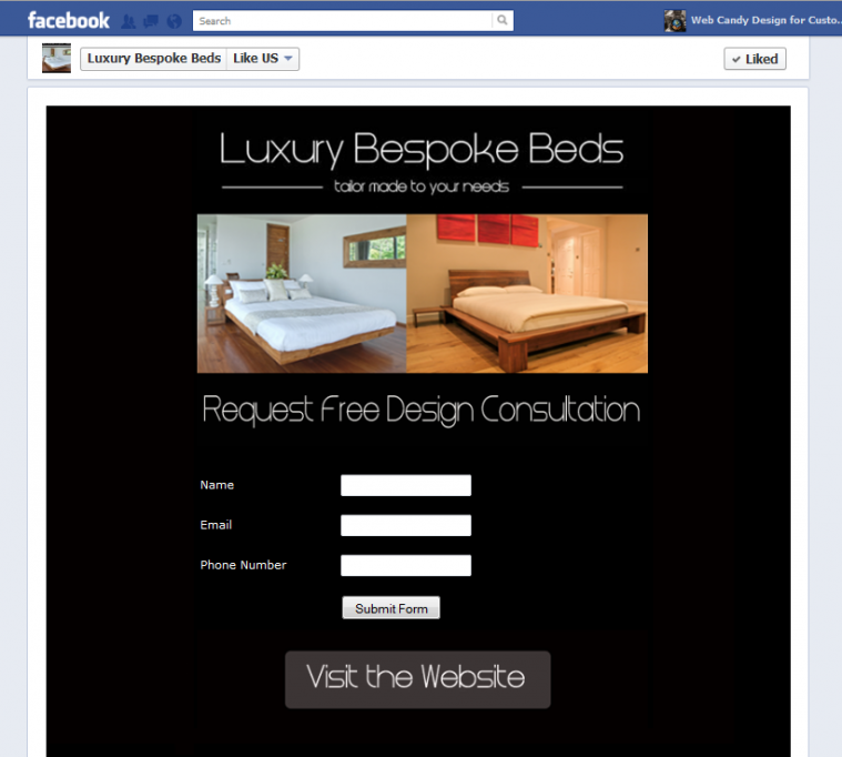 Luxury bespoke Facebook