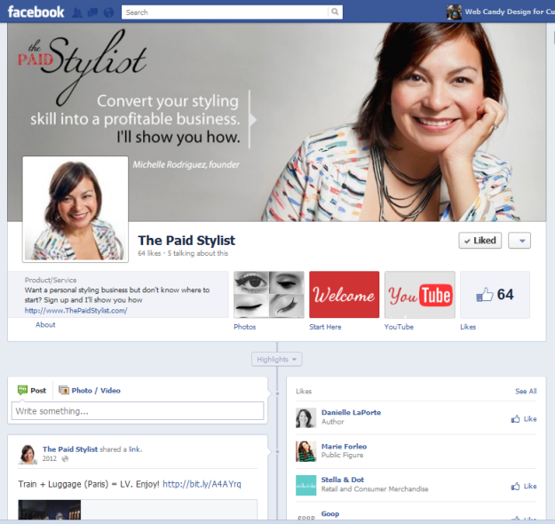 The Paid Stylist facebook Custom Banner Tabs