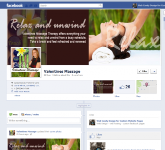 Valentines Massage Therapy Facebook Page