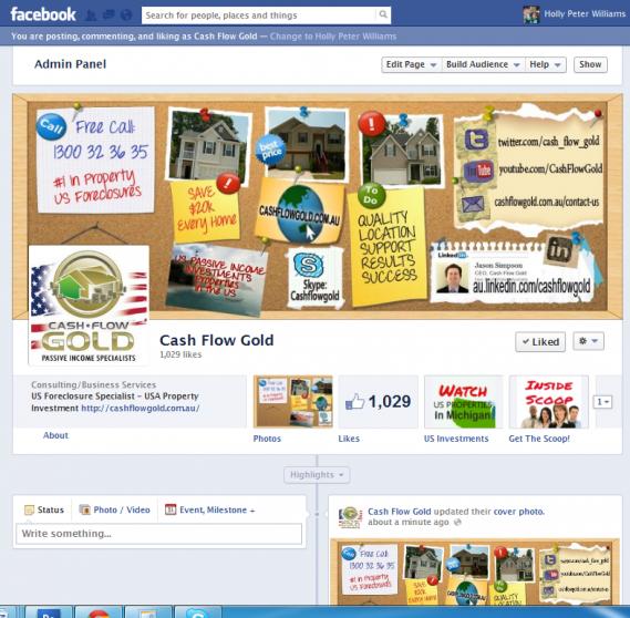 Cash Flow Gold AU Facebook timeline