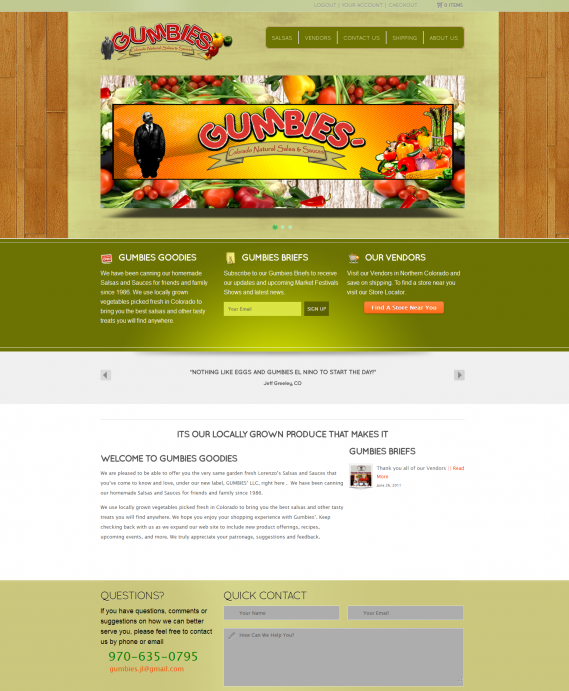 Gumbies Goodies Web Design by Web Candy