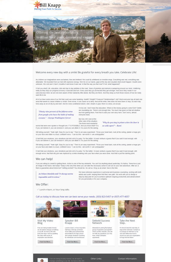 Mountain View Speakers by Bill Knapp Video Blog Keynote speaker coaching