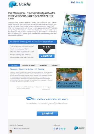 As the World Goes Green Keep Your Swimming Pool Clean Pool Maintenance Book