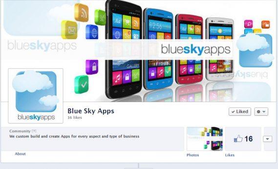 blueskyapps Blue Sky Apps Facebook design by Web Candy