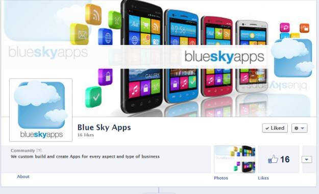 blueskyapps Blue Sky Apps Facebook design by Web Candy