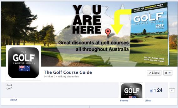 Golf facebook app design from Web Candy Web Design