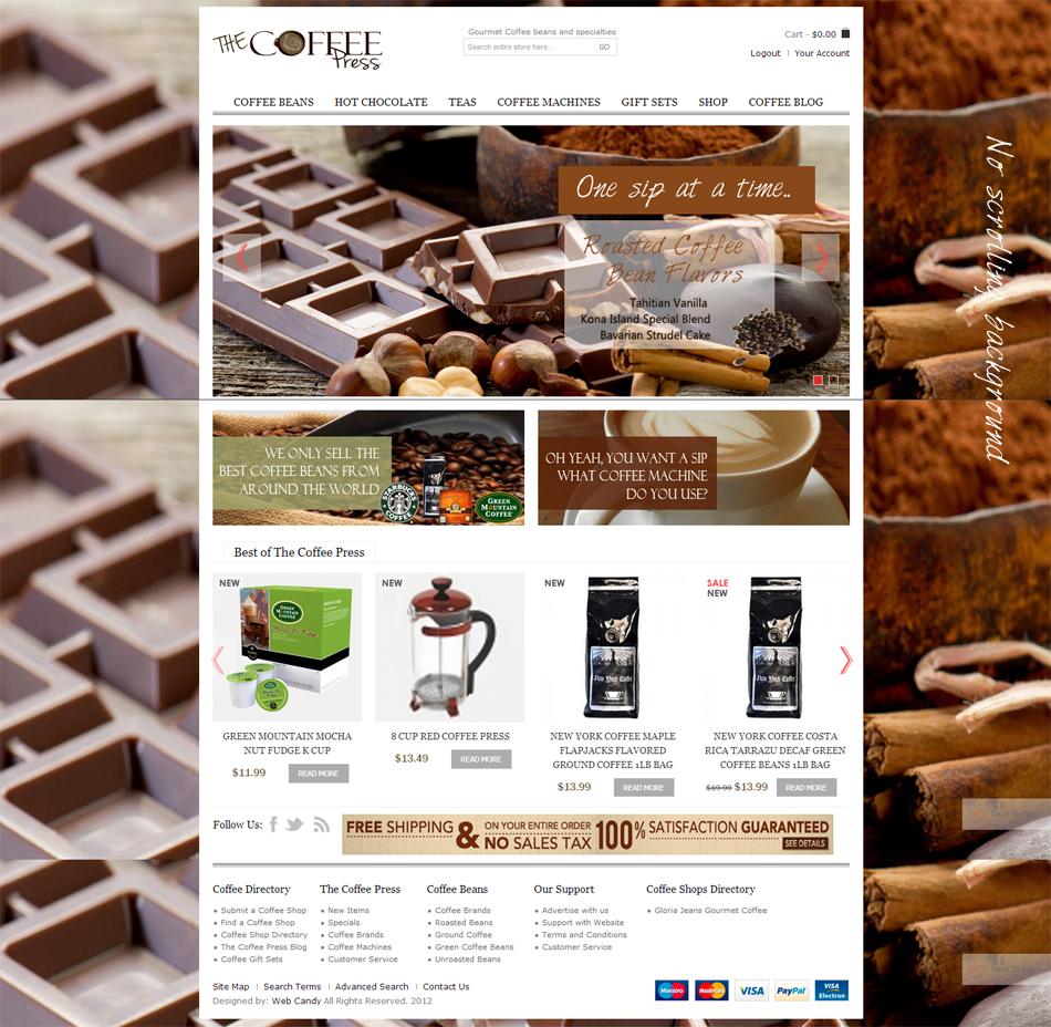 Design a Coffee store affiliate coffee shop
