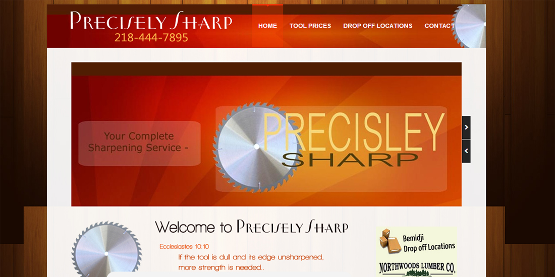 Precisely Sharp Tool precision and design web design wordpress powered by Web Candy
