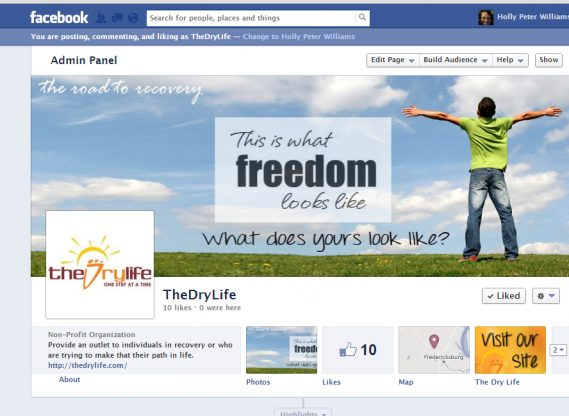 Facebook what freedom is about The Dry Life.com Custom Facebook banners
