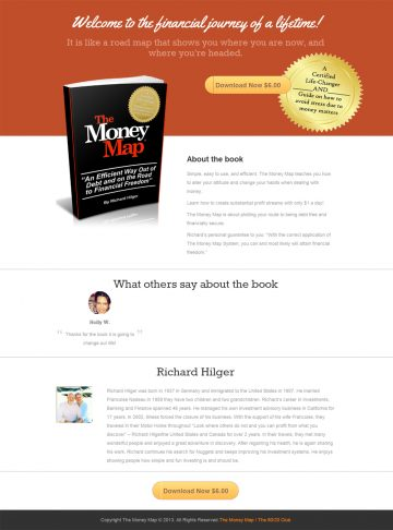 landing pages sell your books and ebooks online and focus just on one item at a time