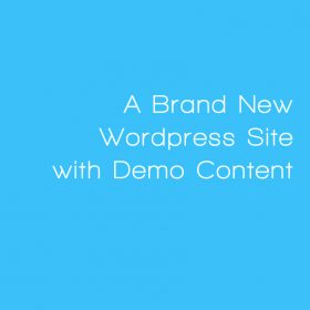 Web Candy installs Demo Site and Theme to a Brand New Wordpress account