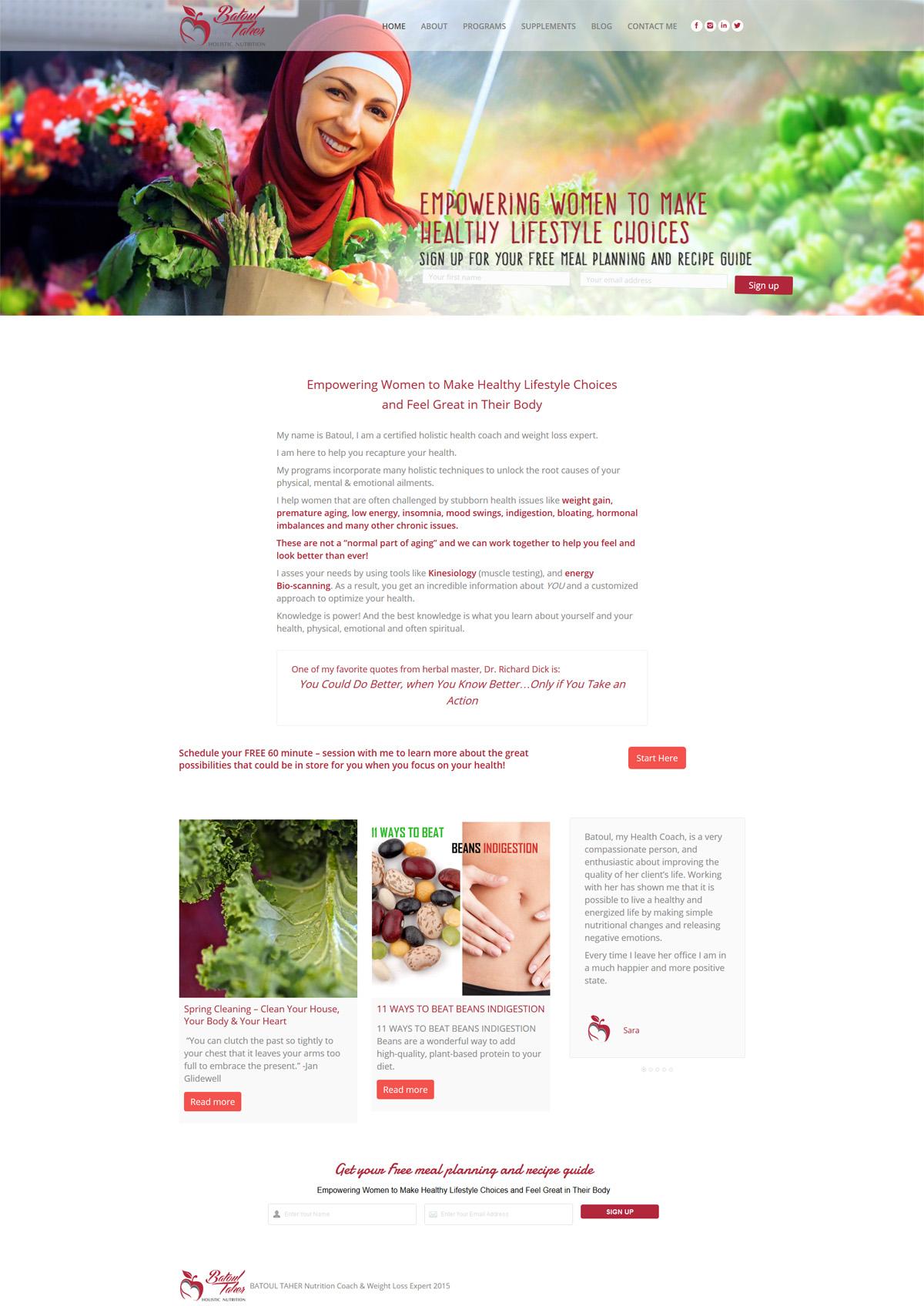Batoul Taher Holistic Nutrition
