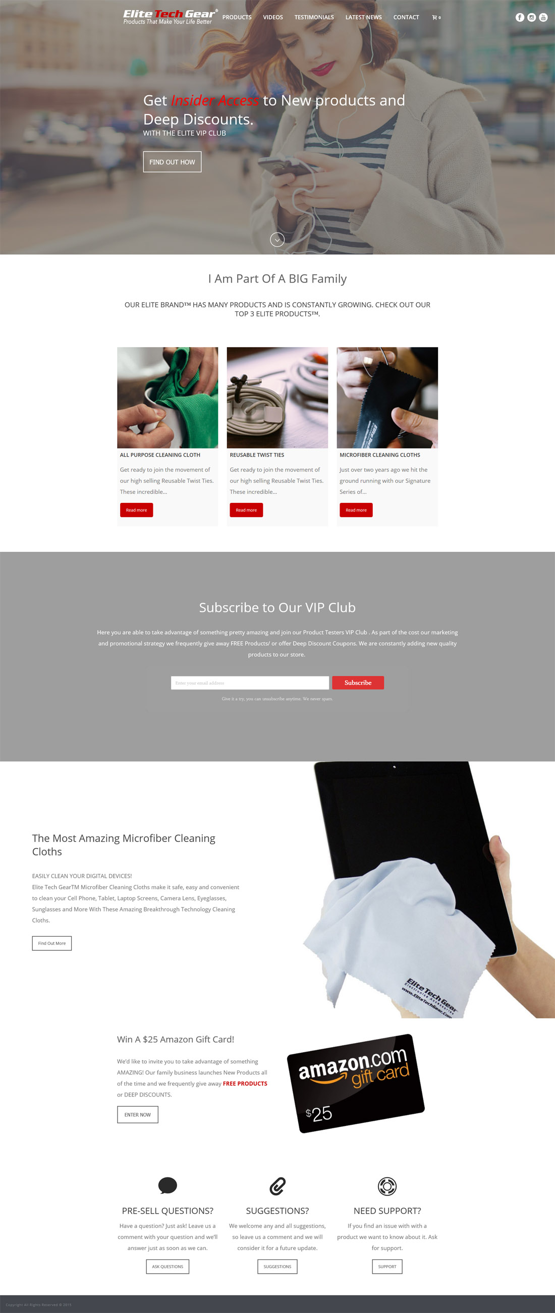 Website Gallery Lookbook – Web Candy Website Design