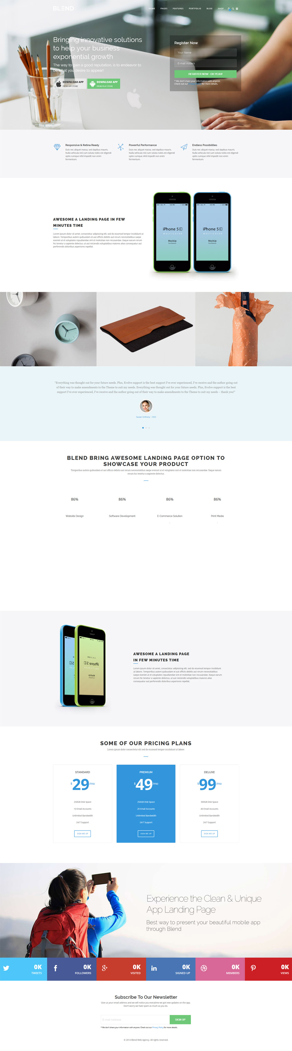Blend Responsive Wordpress Theme