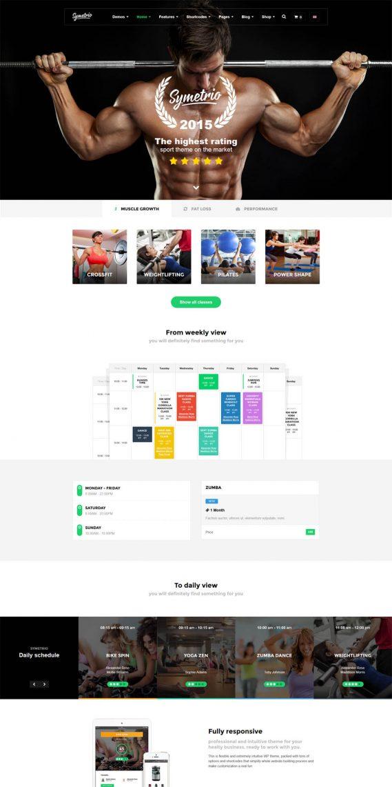 Symetrio Multipurpose Fitness Gym Wordpress Theme