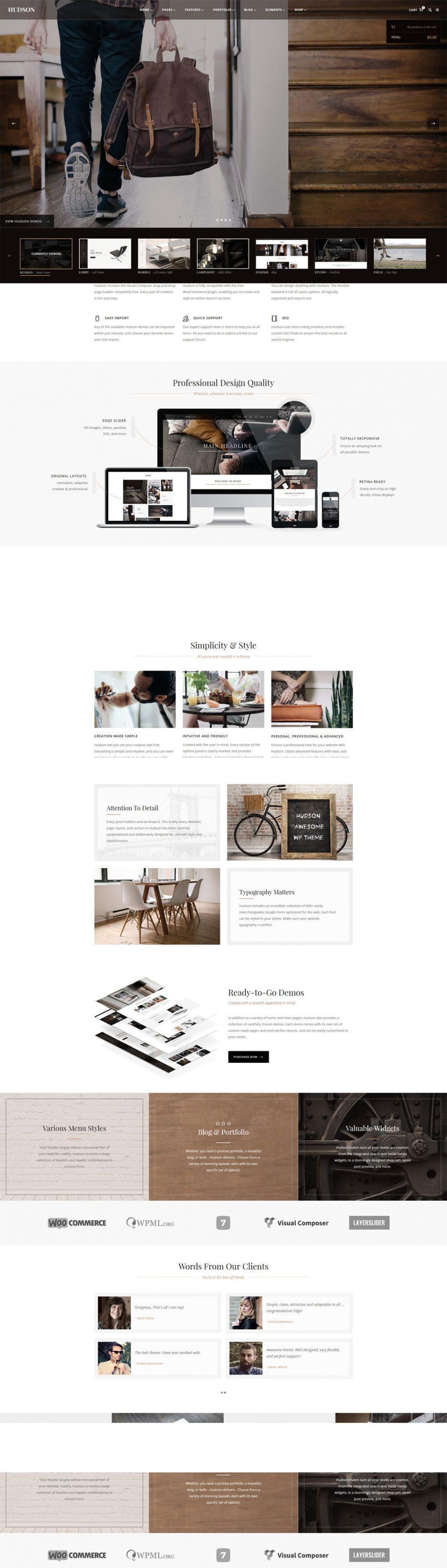 Hudson Wordpress Theme Responsive
