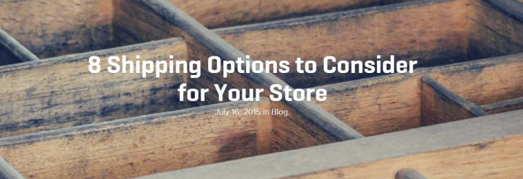 Shipping Options with Woocommerce